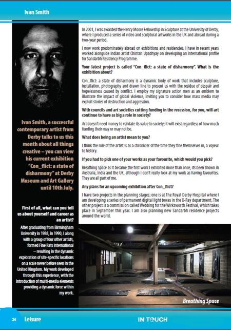 Archive - July/August 2011 In Touch Interview - Ivan Smith